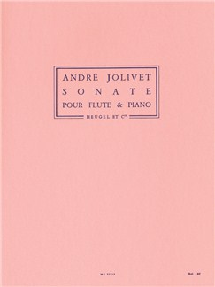 André Jolivet: Sonata For Flute And Piano Books | Flute, Piano Accompaniment