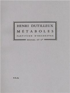 Henri Dutilleux: Métaboles (Score) Buch   Orchester