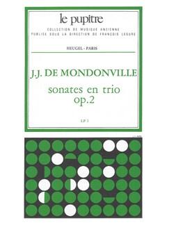 Mondonville: Sonates En Trio Op2 2 Violons Et Clavecin Partition (Lp3) Et Parties Books | Trio