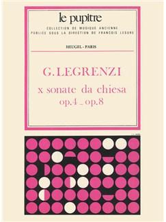 Giovanni Legrenzi: 10 Sonate Da Chiesa Op.4/Op.8 Books | Violin, Cello, Continuo