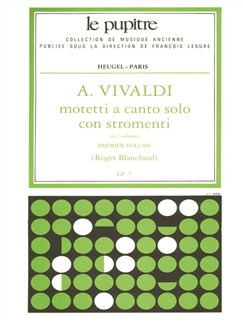 Blanchard: Motetti À Canto Solo Con Stromenti Cordes/Cht/Continuo/Ption (Lp7)/Volume 1 Books   Voice, String Orchestra, Piano Accompaniment