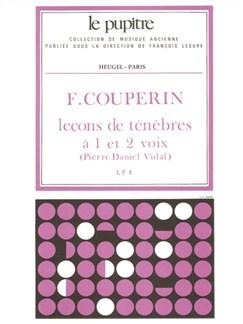 François Couperin: Leçons De Ténèbres À 1 Et 2 Voix (Vidal) Books | Soprano, Organ Accompaniment, Harpsichord Accompaniment, Continuo