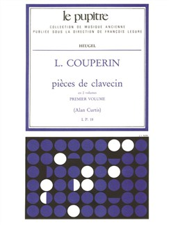 Couperin L: Pièces De Clavecin Volume  1 (Lp18) Books | Harpsichord