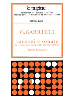 Gabrieli: Canzoni E Sonate Pour Divers Instruments Partition (Lp27) Books |