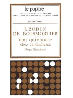 Bodin De Boismortier: Don Quichotte Chez La Duchesse Partition D Orchestre (Lp30) Books   Opera