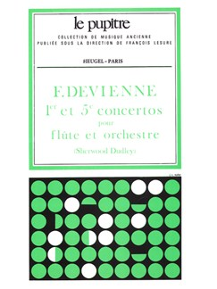 François Devienne: Concertos No.1 In D And No.5 In G (Score) (Dudley) Books | Flute, Orchestra