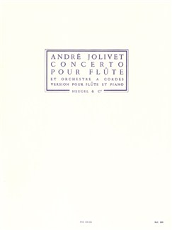 André Jolivet: Concerto For Flute And String Orchestra (Flute/Piano) Books | Flute
