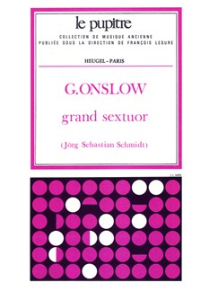 Georges Onslow: Grand Sextuor Op.77bis (Score) Books | Double Bass, Piano, Clarinet, Flute, Bassoon, French Horn