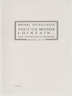 Tout Un Monde Lointain Pour Violoncelle Et Orchestre Books | Cello