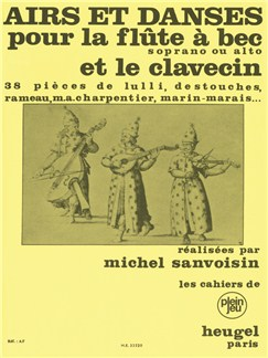 Airs Et Danses (Soprano Or Alto Recorder/Harpsichord) (Sanvoisin) Books | Soprano (Descant) Recorder or Alto (Treble) Recorder, Harpsichord