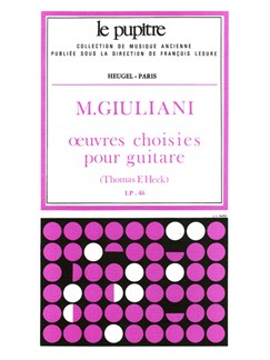 Giuliani: Oeuvres Choisies Pour Guitare (Lp46) Books | Guitar