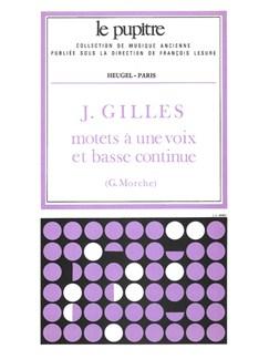 Gilles: Motets à une voix et basse continue partition et parties (lp55) Books | Voice