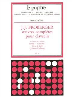Froberger: Oeuvres complètes de clavecin tome 1/volume 1(lp57) Livre | Clavecin