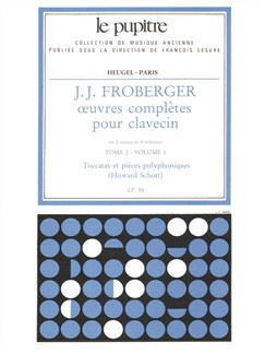 J.J. Froberger: Oeuvres Complètes Pour Clavecin Book 2 Vol.1 Books | Harpsichord