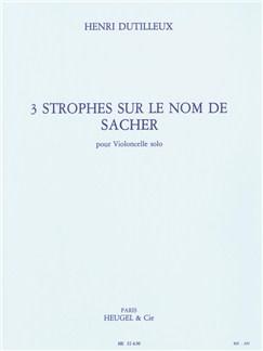 Henri Dutilleux: 3 Strophes Sur Le Nom De Sacher (Cello) Books | Cello