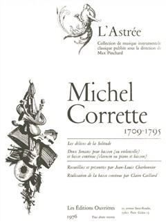 Michel Corrette: Les Délices de la Solitude, 2 Sonates (Bassoon & Bass Continuo) Books | Bassoon
