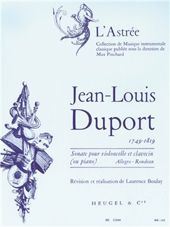 Jean-Louis Duport: Sonate (Cello/Piano or Harpsichord) (Boulay) Books | Cello, Piano Accompaniment, Harpsichord Accompaniment