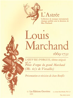 Louis Marchand: L'Oeuvre D'Orgue Vol. 2 Books | Organ