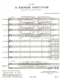 Pierre Villette: O Sacrum Convivium Op.27 Buch | SATB (Gemischter Chor)