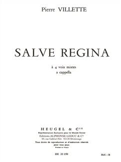 Pierre Villette: Salve Regina Op.5 Books | SATB