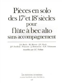 Jean-Claude Veilhan: Pièces En Solo Des Xviième Et Xviiième Siècles (Alto) (Recorder Solo) Books | Alto (Treble) Recorder