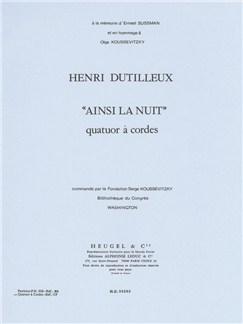 Henri Dutilleux: Ainsi La Nuit (String Ensemble) Books |