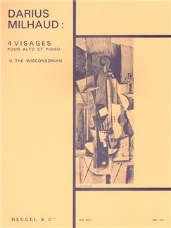 Darius Milhaud: Quatre Visages Op.238 No.2 - The Wisconsonian Books | Viola, Piano Accompaniment