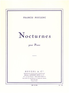 Francis Poulenc: Nocturnes For Piano Books | Piano