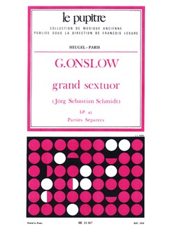 Georges Onslow: Grand Sextuor Op.77bis (Parts) Books | Flute, Clarinet, Double Bass, French Horn, Piano Chamber