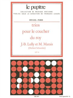 Lully: Trios pour le coucher du roy parties (lp70) Books | Orchestra