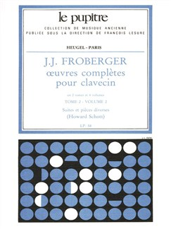 Froberger: Oeuvres Complètes De Clavecin Tome 2/Volume 2(Lp58) Books | Harpsichord