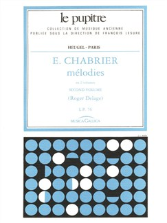 Chabrier: Mélodies volume 2/lp76/chant et piano Books | Piano & Vocal