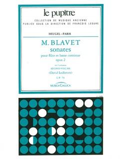 Blavet: Sonates pour flutes et continuo op 2 en deux volumes volume 2(lp 80) Books | Flute