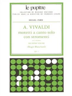 Blanchard: Motetti À Canto Solo Con Stromenti Cordes/Cht/Continuo/Ption (Lp7)/Volume 2 Books | Voice, Orchestra