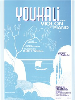 Kurt Weill: Youkali (Violin/Piano) Books | Violin, Piano Accompaniment