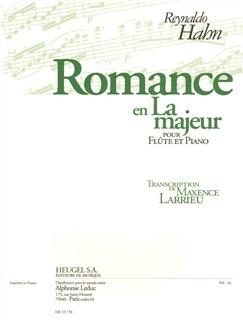 Reynaldo Hahn: Romance In A (Flute/Piano) (Larrieu) Books | Flute