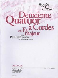 Hahn: Quatuor À Cordes N° 2 En Fa Majeur (25') Pour 2 Violons, Alto Et Violoncelle (Partition Et Parties) Books |