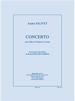 Jolivet: Concerto Pour Flute Et Orchestre Réduction Pour Deux Flutes De R. Müller-Dombois Books | String Orchestra