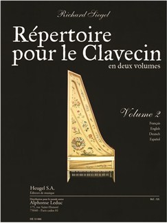 Siegel: Répertoire pour le clavecin (en 2 volumes) volume 2 (6e/7e) (texte français, anglais, allemand, espagnol) (pour clavecin ou piano) Books | Harpsichord