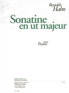 Hahn: Sonatine En Ut Majeur Pour Piano Books | Piano