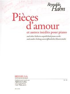 Hahn: Pièces D'amour Et Autres Inédits Pour Piano Books | Piano