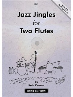 Kate Cuzner: Jazz Jingles For Two Flutes (Book/CD) Books and CDs | Flute (Duet)