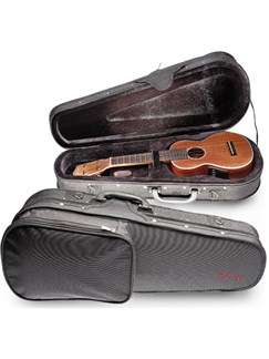 Stagg: 27 Inch Tenor Ukulele Reinforced Lightweight Case - Black  | Ukulele