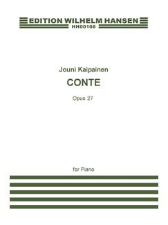 Jouni Kaipainen: Conte Op.27 (Piano Solo) Books | Piano