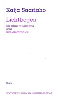 Kaija Saariaho: Lichtbogen (Score) Books | Ensemble, Live Electronics