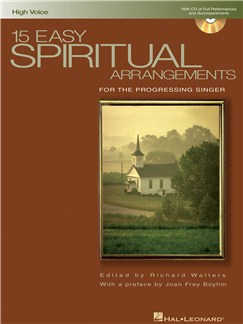 15 Easy Spiritual Arrangements (High Voice) Books and CDs | High Voice, Piano Accompaniment