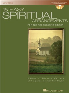 15 Easy Spiritual Arrangements (Low Voice) Books and CDs | Low Voice, Piano Accompaniment
