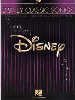 Disney Classic Songs (High Voice) Books and CDs | High Voice, Piano Accompaniment