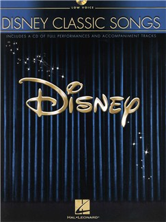 Disney Classic Songs (Low Voice) Books and CDs | Low Voice, Piano Accompaniment