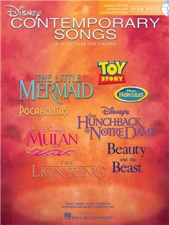 Disney Contemporary Songs For High Voice Books and CDs | High Voice, Piano Accompaniment